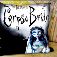 Tim Burton Corpse Bride - Pillow Cover and Pillow Case.
