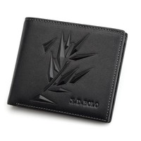 Slim Leaf Men's Wallet - Genuine Leather