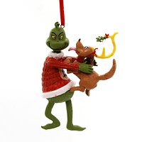 Holiday Ornaments Grinch Mistletoe Kisses Resin Ornament