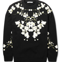 Givenchy - Columbian-Fit Botanical-Print Fleeceback Cotton-Jersey Sweatshirt | MR PORTER