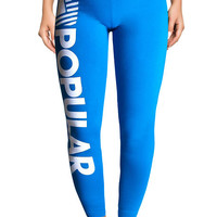 The PD Bold Leggings in Teal