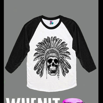 worldwide shipping just 7 days SKULL women baseball shirt 40288