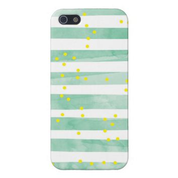 Vintage White Stripes Pattern iPhone 5 Case
