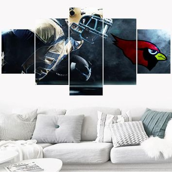 Sport Rugby Team Paintings Arizona Cardinals Modern Home Decor Living Room Bedroom Wall Art Canvas Print Painting Calligraphy