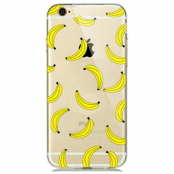 Bunch of Banana Fruit Soft Case for iPhone 5 5s 6 6s