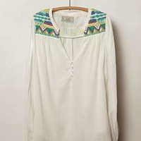Rohini Peasant Blouse by Isato Ivory