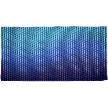 DCCKJY1 Halloween Blue Ice Dragon Scales Costume All Over Beach Towel