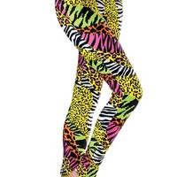 Wild Animal Print Leggings - Urban Groove