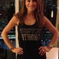 St, Patrick's Day Womens. Boston Strong. St. Patrick's Day Shirt. St. Patrick's Day Outfit. Clover Tank. Green Clover. Rhinestone. Workout.