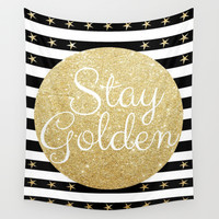 Stay Golden Wall Tapestry by RichCaspian