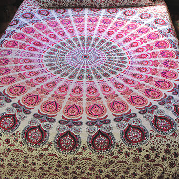 By The Moon - Phoenix Mandala Throw - Queen - Pink