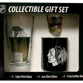 Boelter NHL Chicago Blackhawks 3-Piece Gift Set