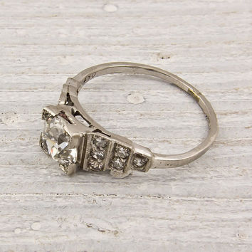 Old European Cut 101 Diamond Engagement Ring by ErstwhileJewelry