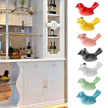 Ceramic Bird Knobs & Drawer /Cupboard Pull Handle for Cabinets