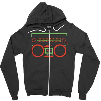 a tribe called quest   speaker hip hop the cutting edge Zipper Hoodie