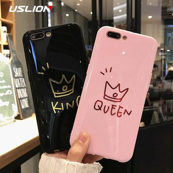 Glossy Crown King & Queen iPhone Case