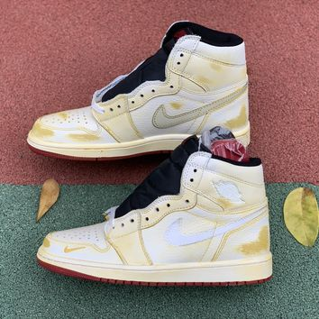 [Free Shipping ]Nike Air Jordan 1 Retro High OG NRG Nigel Sylvester  BV1803-106 Basketball Shoes