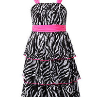 Bloome Kids Dress, Girls Plus Size Tiered Zebra Dress - Kids Girls Dresses - Macy's