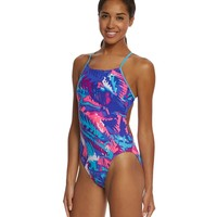 Nike Women's Tropic Cut-Out Tank One Piece Swimsuit at SwimOutlet.com - Free Shipping