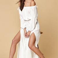 LIONESS Off-The-Shoulder Maxi Dress at PacSun.com