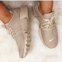 NIKE Air Presto White Small Hook NIKE Air Presto Khaki Fashion Women/Men Running Sport Casual Cushion Shoes Sneakers Nude G-AA-S