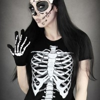 Human Skeleton T Shirt
