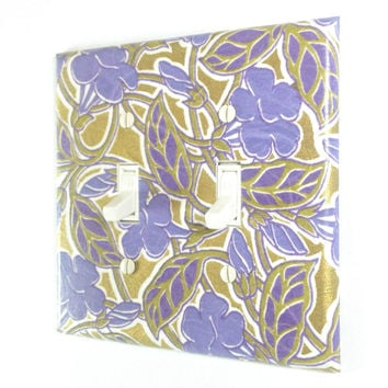 Purple Flower Switch Plate - Double Toggle