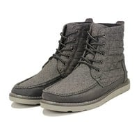 The Searcher Boot in Castlerock Grey Quilted Wool Suede