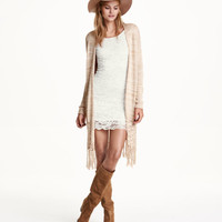 Cardigan with Fringe - from H&M