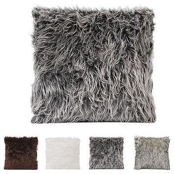 Select Faux Fur Pillows 18""