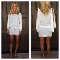 Heart On My Sleeve Crochet Cover Up Dress