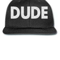 dude embroidery hat - Snapback Hat