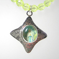 Effervescent Virgin Mary Necklace by 925studio on Etsy