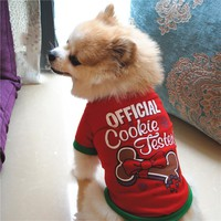 New Christmas Autumn Winter Pet Products Dog Clothes Pets Coats Soft Cotton Puppy Dog T shirt Puppy Costume Clothes For Dog