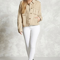Button-Front Cargo Jacket
