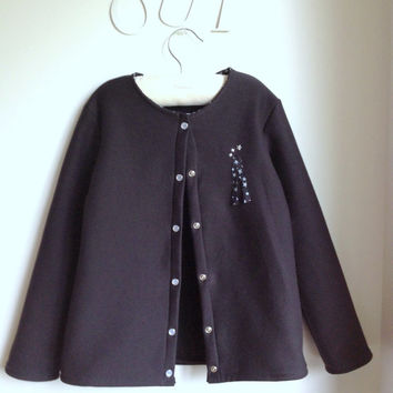Children Cardigan, Kids top, Girls Sweater- The Elena Cardigan - French Style - Sizes 1T to 8Y