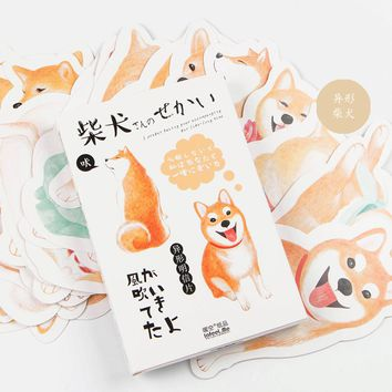 30 pcs/pack Oxygen Smile Shiba bookmarks Greeting Card Postcard Birthday Gift Card Set Message Card