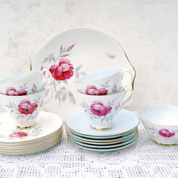 Vintage Royal Albert Bone China England 'Charmaine' Tea Set. Circa 1950s