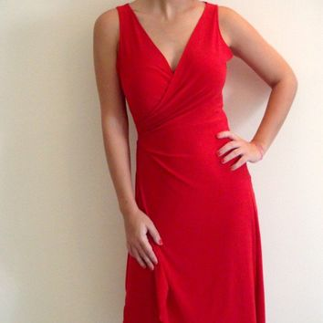 Feminine Wrap Dress Red by onor on Etsy