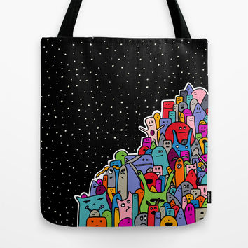 Pile of Monsters Tote Bag by Alliedrawsthings | Society6