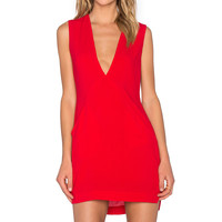 Backstage Lisa Dress in Red