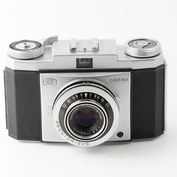Zeiss Ikon Contina I 35mm Film Camera with Case - Working 1950s