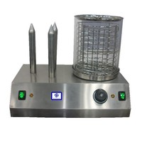 Hot Dog Steamer - 3 Torpedo Roll Spikes - 0.6 KW, CE Approved, TT-O165