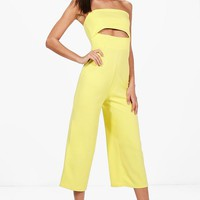 Tall Daphne Cut Out Culotte Jumpsuit | Boohoo