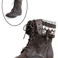 DbDk Fashion Sharp1 Brown Nordic Lining Combat Boots shop Boots at MakeMeChic.com