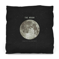 The Earth's Moon Outdoor Throw Pillow