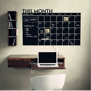 WALL STICKER This Month Calendar chalkboard wall stickers carved trade explosions PCs The blackboard Stickers SM6