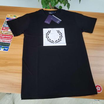 counters, the same American genuine Fred Perry Mai Sui FP Men's British Tide M2525 self-cultivation cotton short sleeve T-shirt black