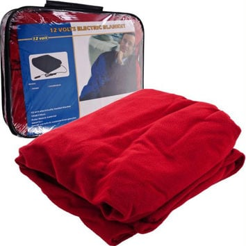 Trademark  Electric Blanket for Automobile - 12 volt - Red