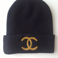 C C Beanie Customized with embroidery